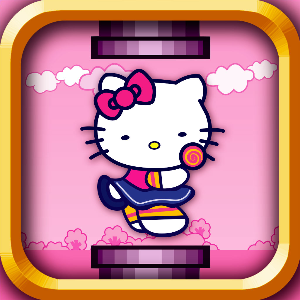 A Cutie Pie Kitten Fly - Jump Adventure Of A Hello Kitty